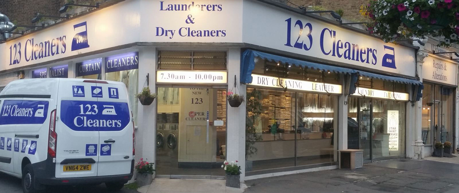 123 Cleaners Shop Front