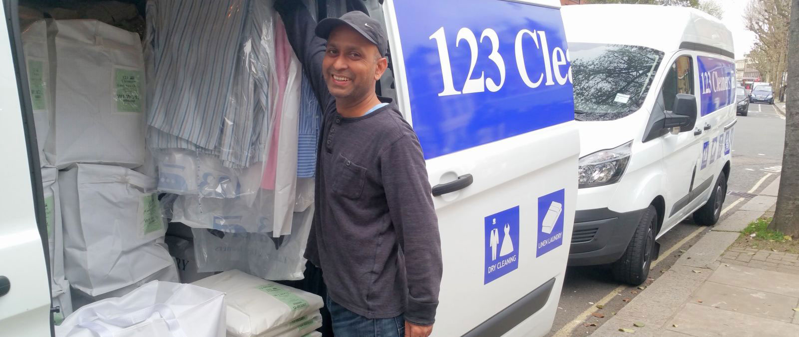 123 Cleaners Dry Cleaning Delivery Vans
