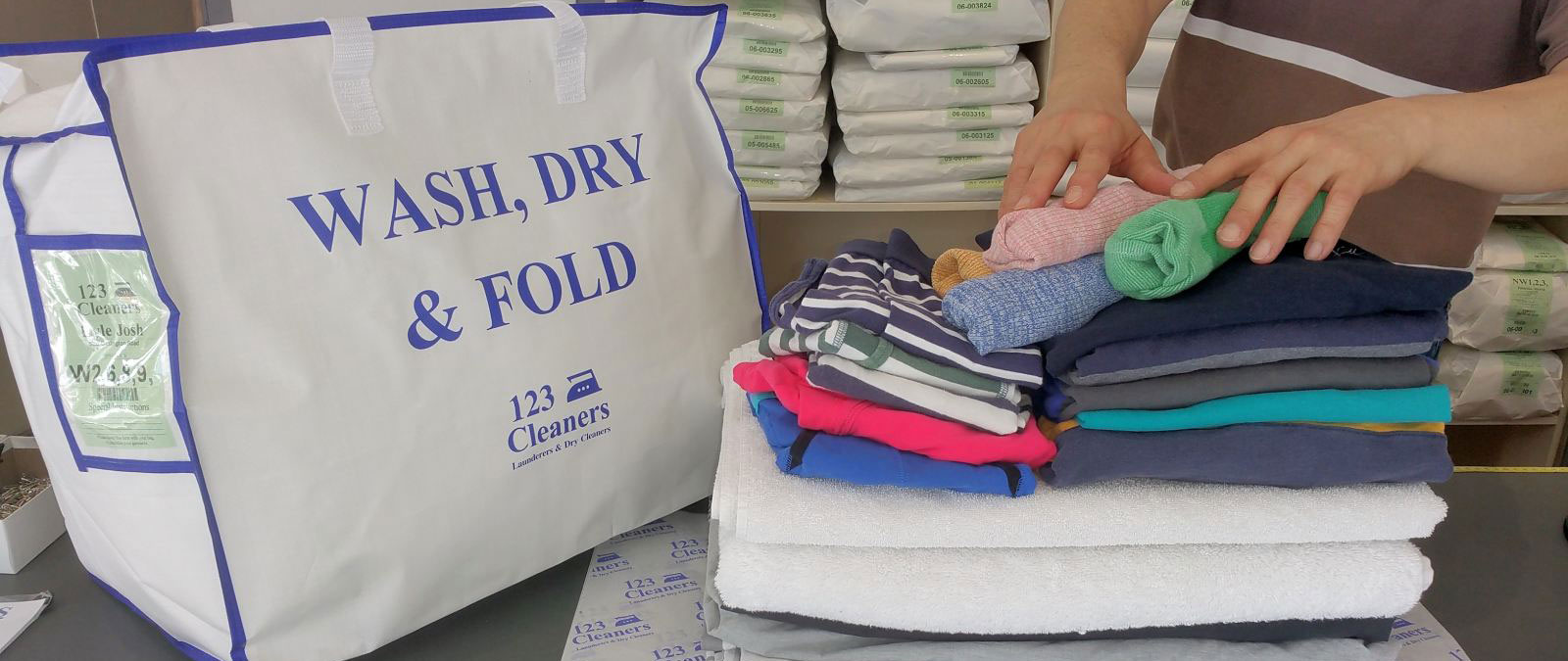 Wash, Dry & Fold Services from 123 Cleaners
